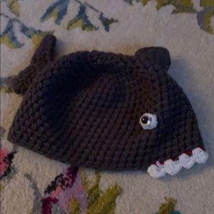 Baby shark toddler little kid crochet hat